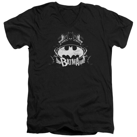 Batman Grim & Gritty Short Sleeve Adult V Neck T-Shirt