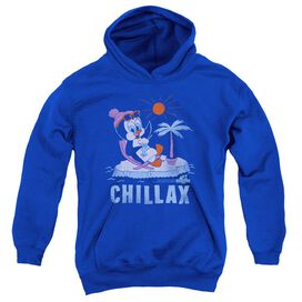 Chilly Willy Chillax - Youth Pull-over Hoodie - Royal - Lg - Royal Blue