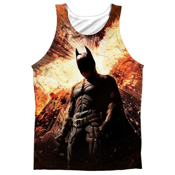 Dark Knight Rises Fire Poster Adult 100% Poly Tank Top