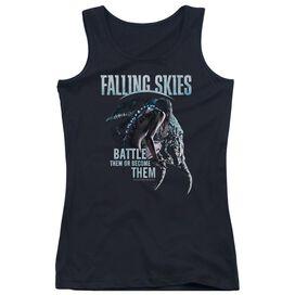 Falling Skies Battle Or Become Juniors Tank Top