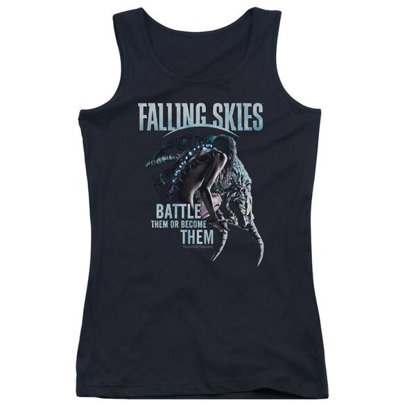 Falling Skies Battle Or Become Juniors Tank Top