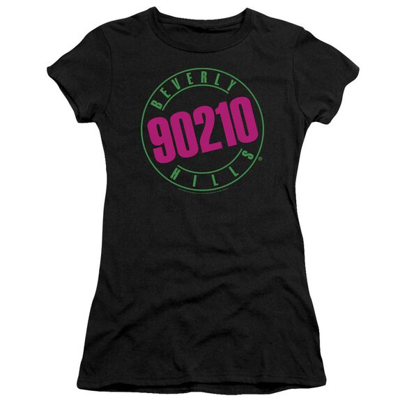 90210 NEON - S/S JUNIOR SHEER - BLACK T-Shirt
