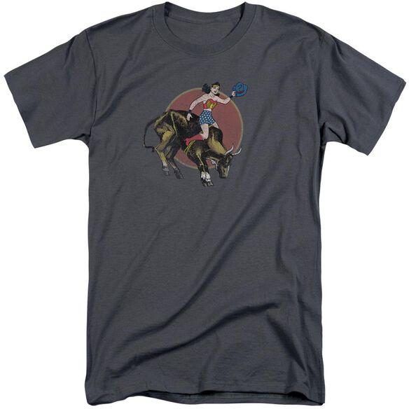 Jla Bull Rider Short Sleeve Adult Tall T-Shirt