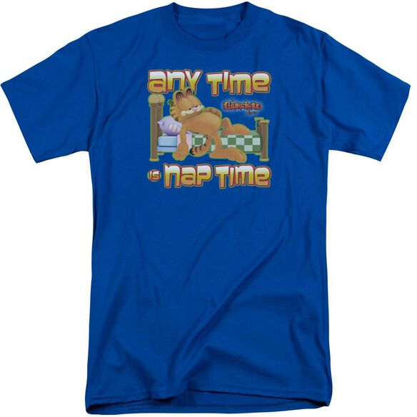 Garfield Nap Time Short Sleeve Adult Tall Royal T-Shirt