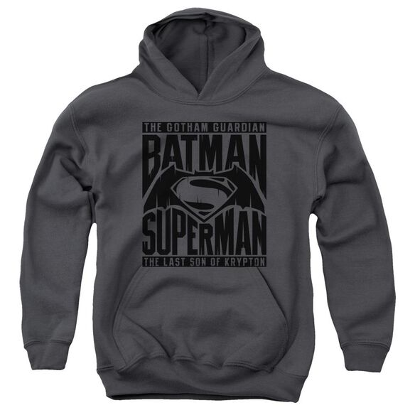 Batman V Superman Title Fight Youth Pull Over Hoodie