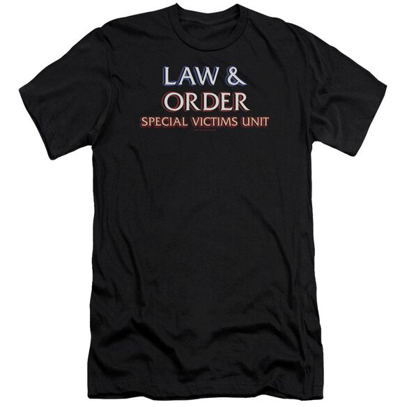 Law And Order Svu Logo Premuim Canvas Adult Slim Fit