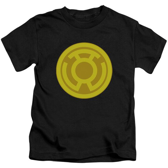 Green Lantern Yellow Symbol Short Sleeve Juvenile Black T-Shirt