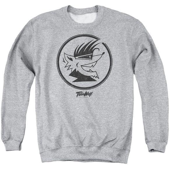 Teen Wolf Wolf Head Adult Crewneck Sweatshirt Athletic