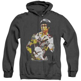 Bruce Lee Body Of Action - Adult Heather Hoodie