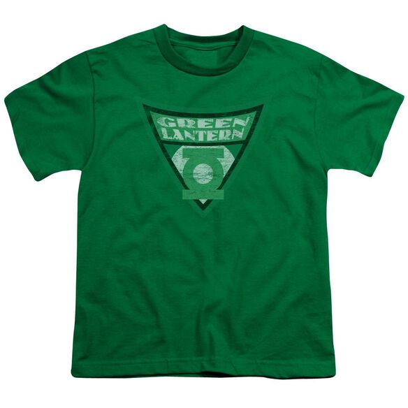 Batman Bb Lantern Shield Short Sleeve Youth Kelly T-Shirt
