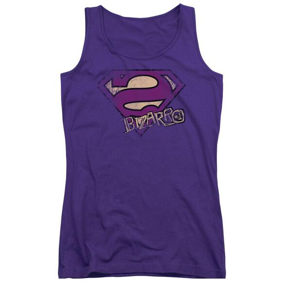 Superman Bizarro Logo Distressed Juniors Tank Top