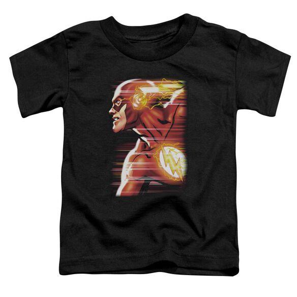 Jla Speed Head Short Sleeve Toddler Tee Black T-Shirt