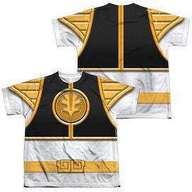 Power Rangers Ranger(Front Back Print) Short Sleeve Youth Poly Crew T-Shirt