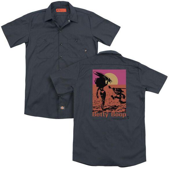 Betty Boop Summer (Back Print) Adult Work Shirt