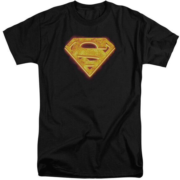 Superman Hot Steel Shield Short Sleeve Adult Tall T-Shirt