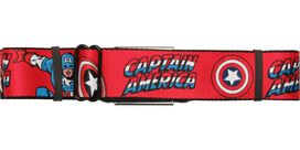 Captain America Name and Shield Seatbelt Belt