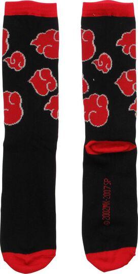 Naruto Akatsuki Clouds Crew Socks