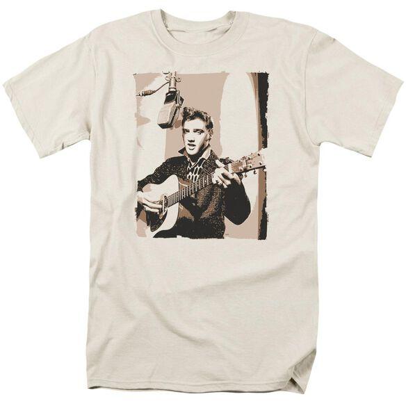 Elvis Sepia Studio Short Sleeve Adult Cream T-Shirt