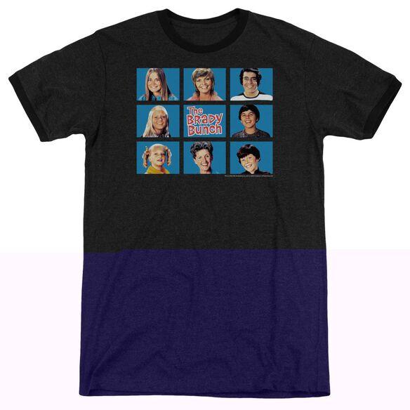 Brady Bunch Framed - Adult Heather Ringer - Black