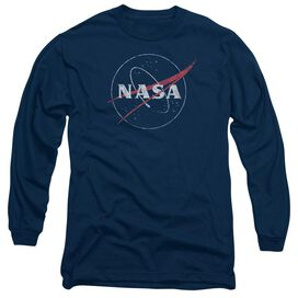 Nasa Distressed Logo Long Sleeve Adult T-Shirt