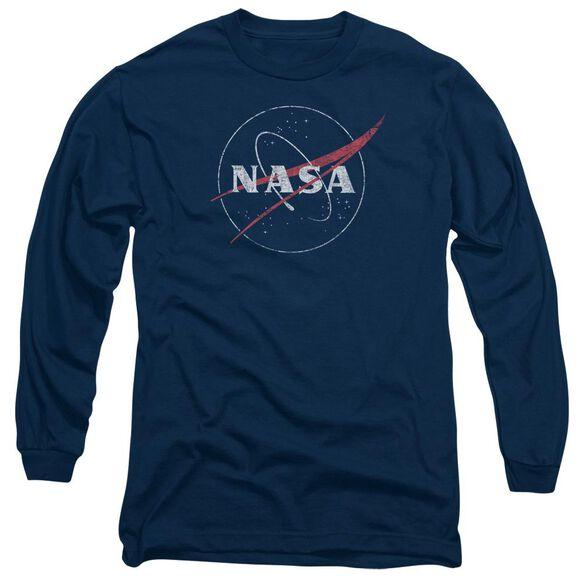 Nasa Distressed Logo Long Sleeve Adult T-Shirt