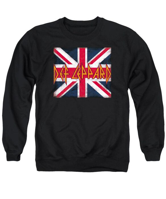 Def Leppard Union Jack Adult Crewneck Sweatshirt