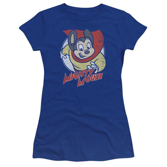 Mighty Mouse Mighty Circle Premium Bella Junior Sheer Jersey Royal