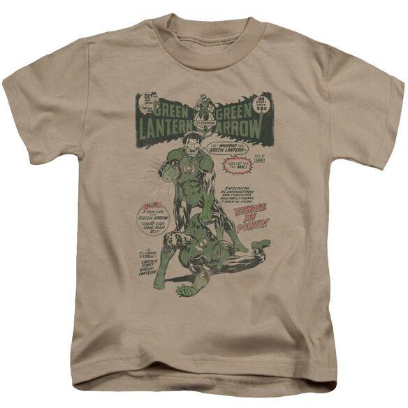Green Lantern Beware My Power Short Sleeve Juvenile Sand Md T-Shirt