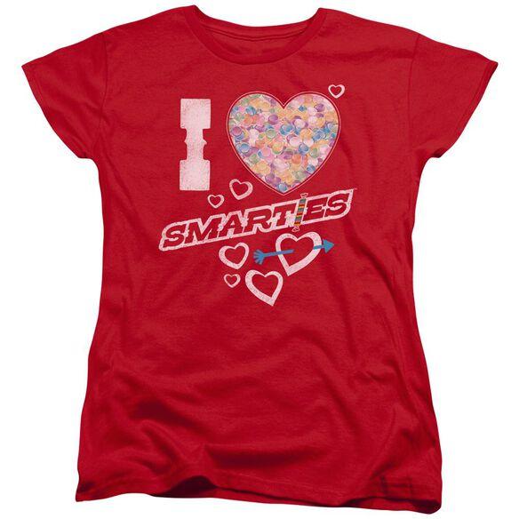 Smarties I Heart Smarties Short Sleeve Womens Tee T-Shirt
