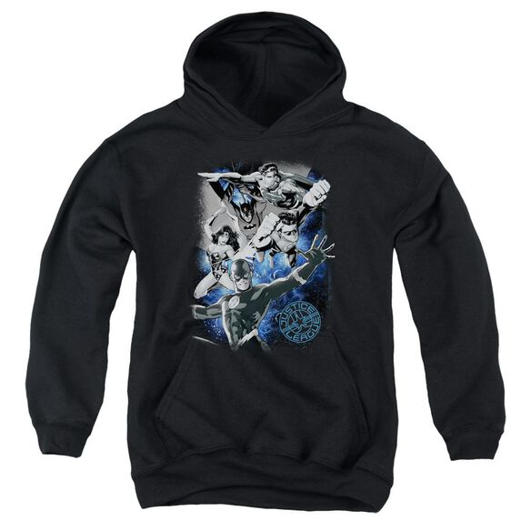 Jla Galactic Attack Nebula Youth Pull Over Hoodie