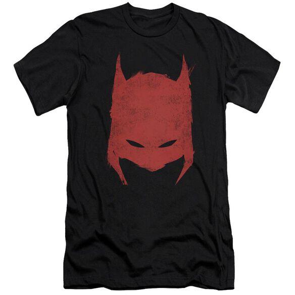 BATMAN HACKED & SCRATCHED - S/S ADULT 30/1 - BLACK T-Shirt