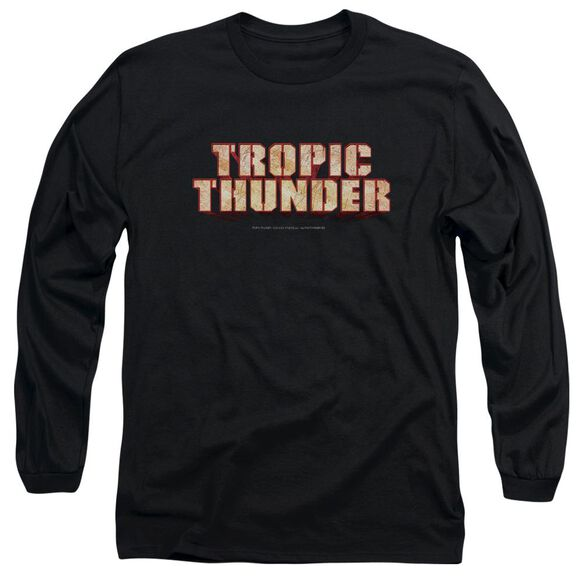 Tropic Thunder Title Long Sleeve Adult T-Shirt
