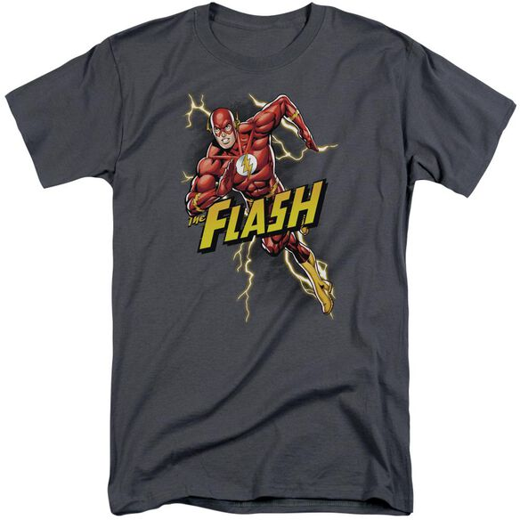 Jla Bolt Run Short Sleeve Adult Tall T-Shirt