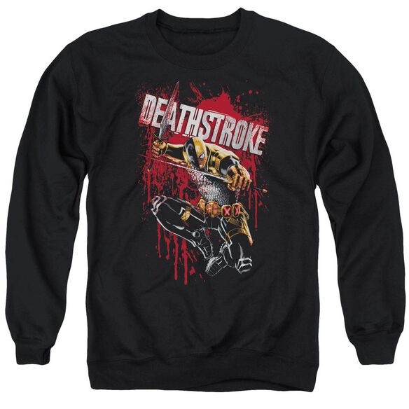 Jla Blood Splattered Adult Crewneck Sweatshirt