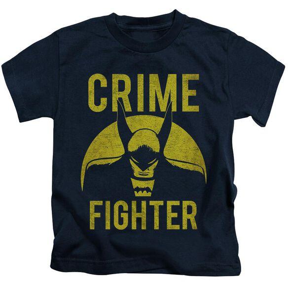 Dc Fight Crime Short Sleeve Juvenile Navy T-Shirt