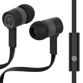 HyperGear Low Ryder Earphones with Mic (Black/Grey)