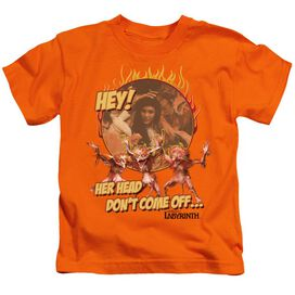 Labyrinth Head Don't Come Off Short Sleeve Juvenile T-Shirt