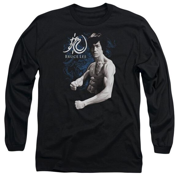 Bruce Lee Dragon Stance Long Sleeve Adult T-Shirt