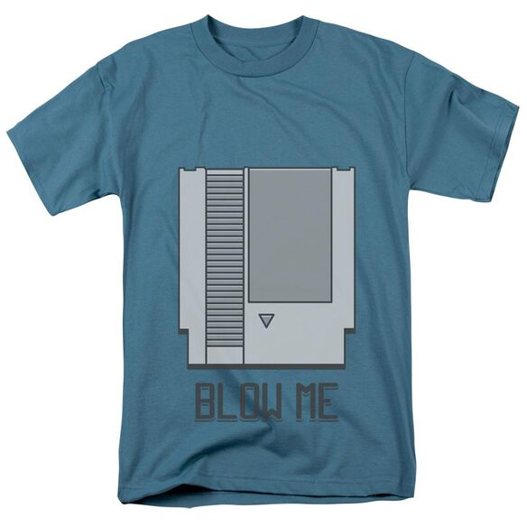 Blow Me Short Sleeve Adult Slate T-Shirt