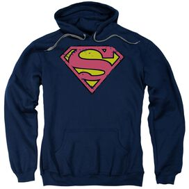 Superman Distressed Shield Adult Pull Over Hoodie