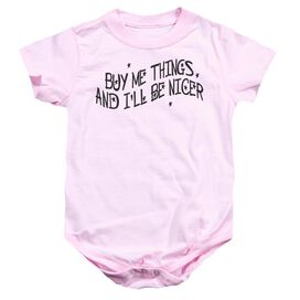 Buy Me Things Infant Snapsuit Pink Md