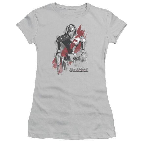 BSG REBEL CENURION - S/S JUNIOR SHEER - SILVER T-Shirt