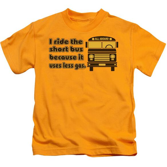 Short Bus Short Sleeve Juvenile Gold T-Shirt