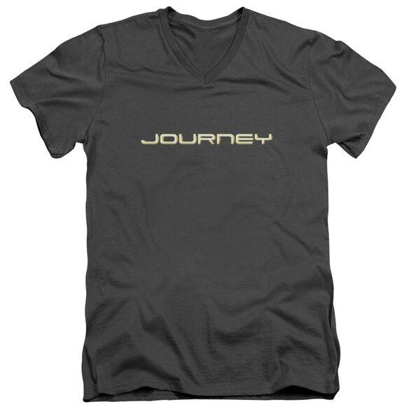 Journey Logo Short Sleeve Adult V Neck T-Shirt