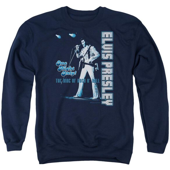 Elvis One Night Only Adult Crewneck Sweatshirt
