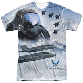 Air Force Pilot Short Sleeve Adult Poly Crew T-Shirt