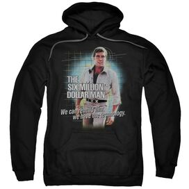 Six Million Dollar Man Technology Adult Pull Over Hoodie