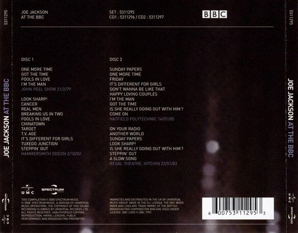 Live At The Bbc 2 Cd 0309