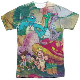 Dragon Tales Mushroom Meadow Short Sleeve Adult Poly Crew T-Shirt