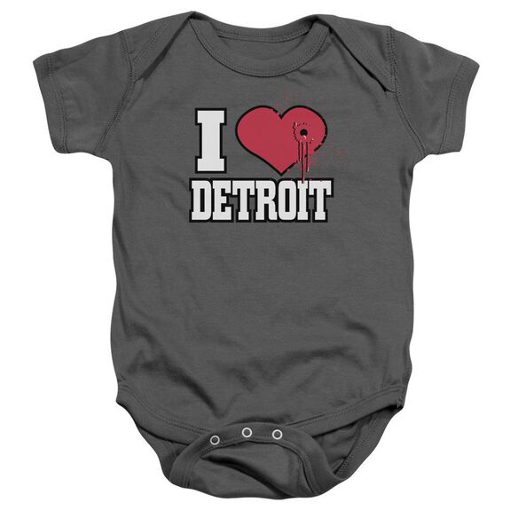 Love Hurts Infant Snapsuit Charcoal Md